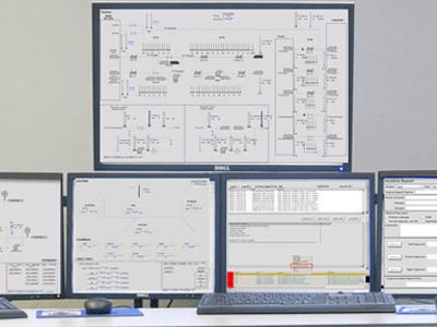 Control Room HMI Monitors
