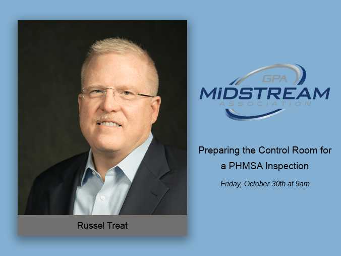 Russel Treat will be presenting during the 2020 GPA Midstream Virtual Fall Technical Conference