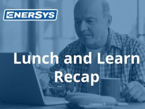 EnerSys Corporation hosted a lunch and learn for pipeline professionals to discuss solutions for natural compliance in the pipeline control room